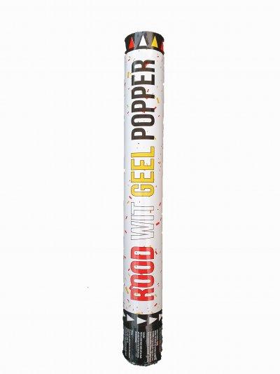 Confetti Popper Rood/Wit/Geel