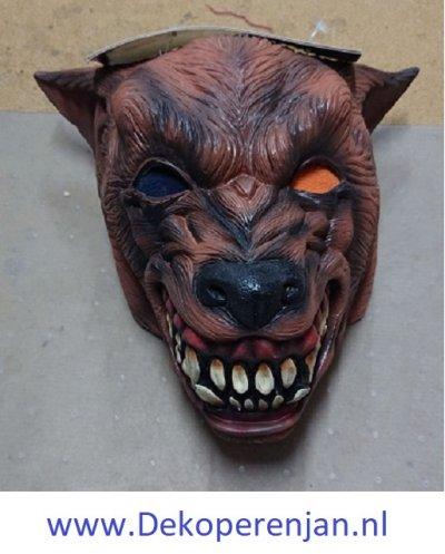 Weerwolf bruin masker