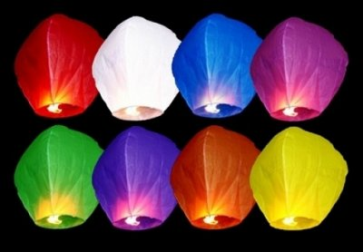 Wensballon gekleurd
