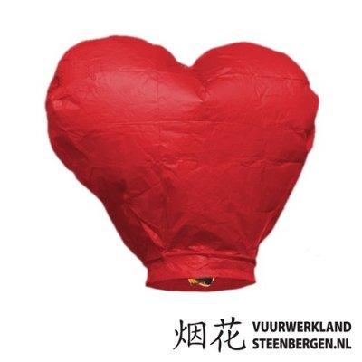 Wensballon Rood Hart
