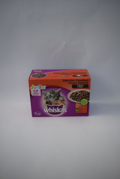 Whiskas junior vlees in saus