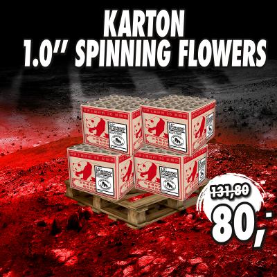 Karton 1.0'' Spinning Flowers