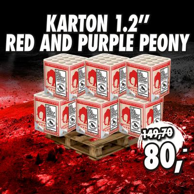 "Karton 1.2"" Red and purple peony"
