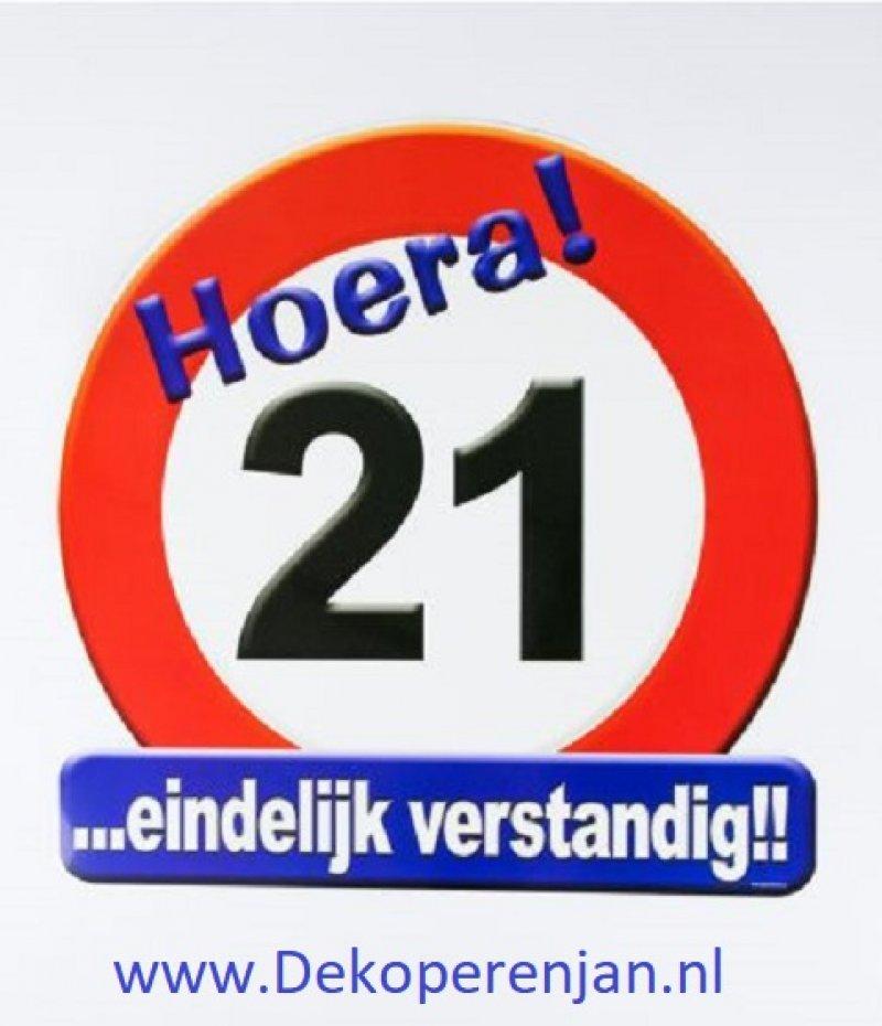 hoera 21 verkeersbord