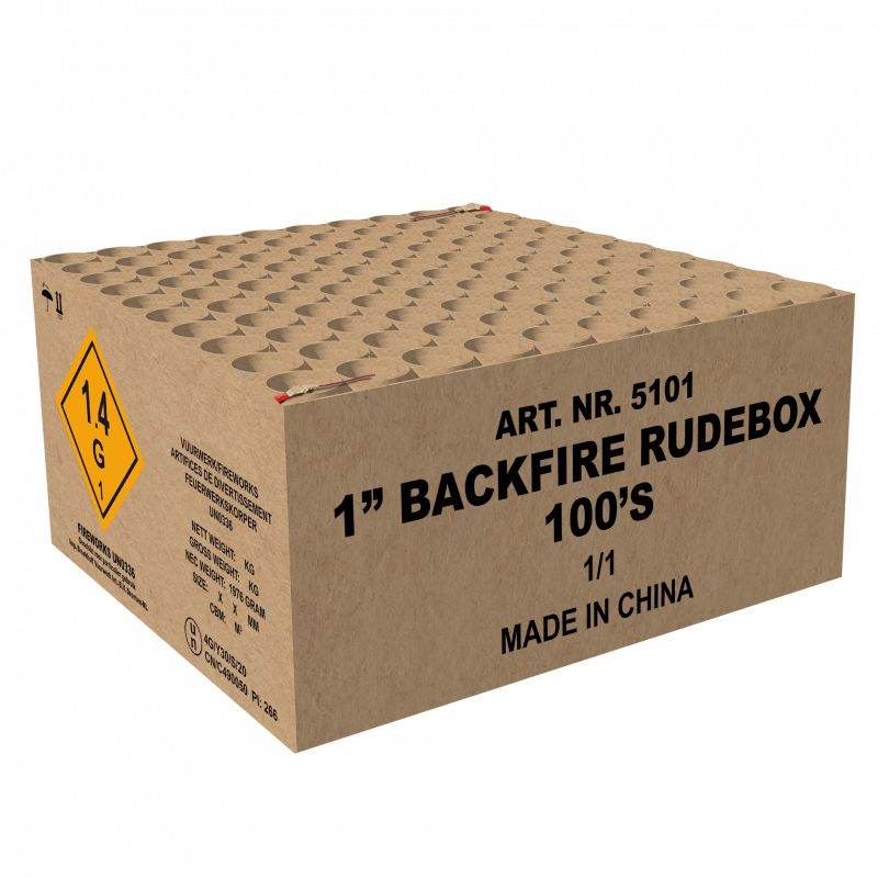 """1""""  Backfire Rudebox"""