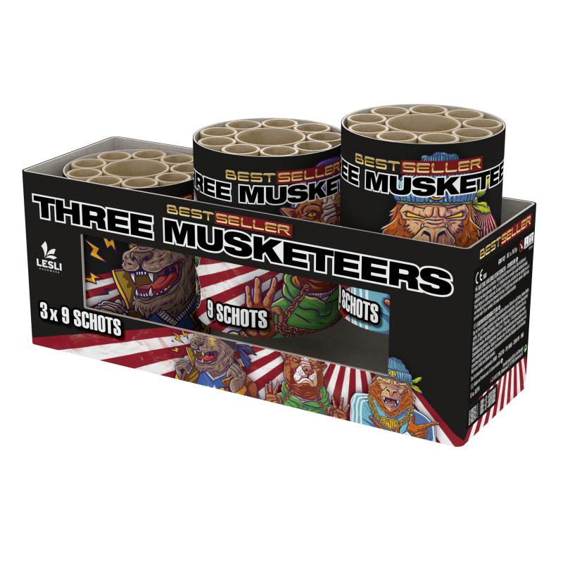 Three Musketeers | 27 schots