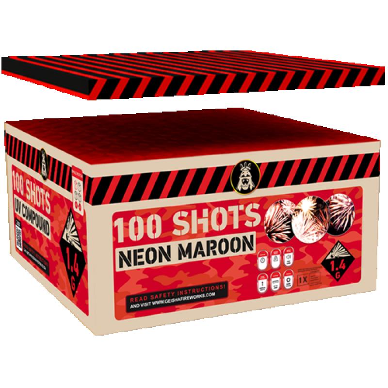 Neon Maroon 100's Compound Box