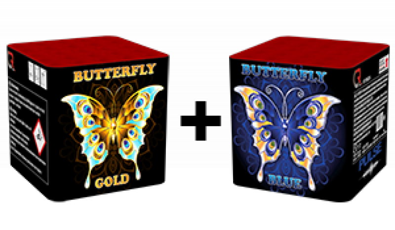 Butterfly Blue and Butterfly Gold 1 + 1 gratis