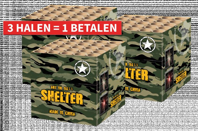 Shelter 3 halen = 1 betalen