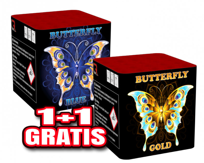 Butterfly Blue and Butterfly Gold