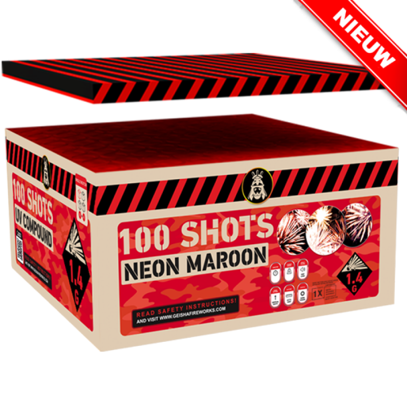 Neon Maroon 100's Compound Box New
