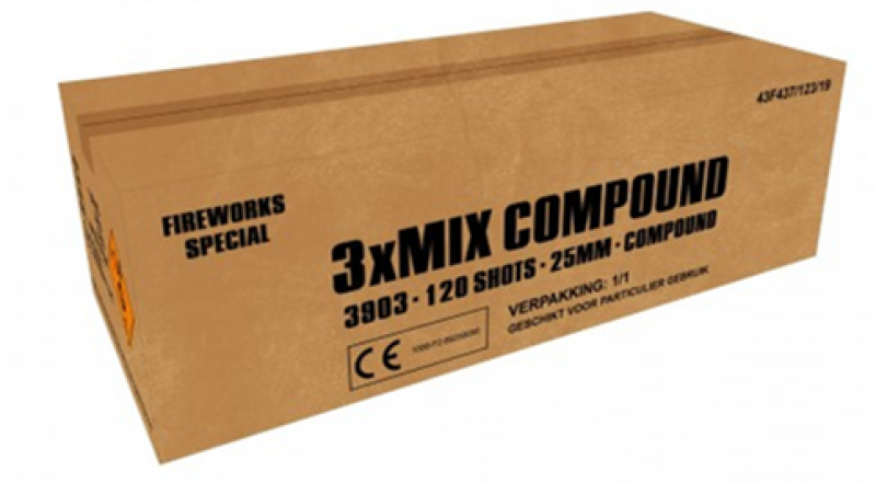 ART. 3803 Extra actiepakker, 3 x mix 120 shots compound