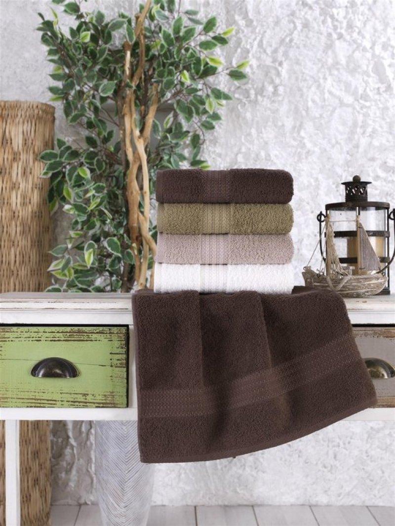 Ephemeris Badhanddoek zacht katoen 70x140 cm bruin