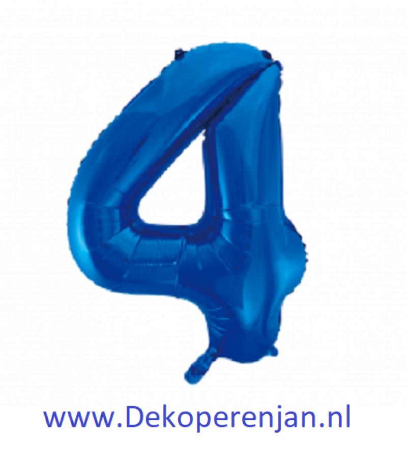 Foli ballon 4 blauw