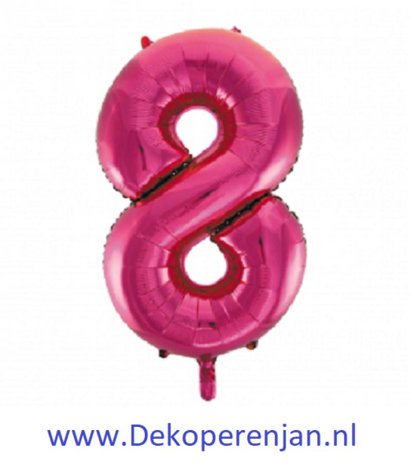 Foli ballon 8 rose