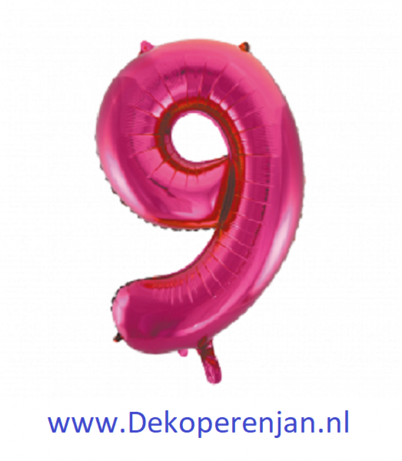 Foli ballon 9 rose