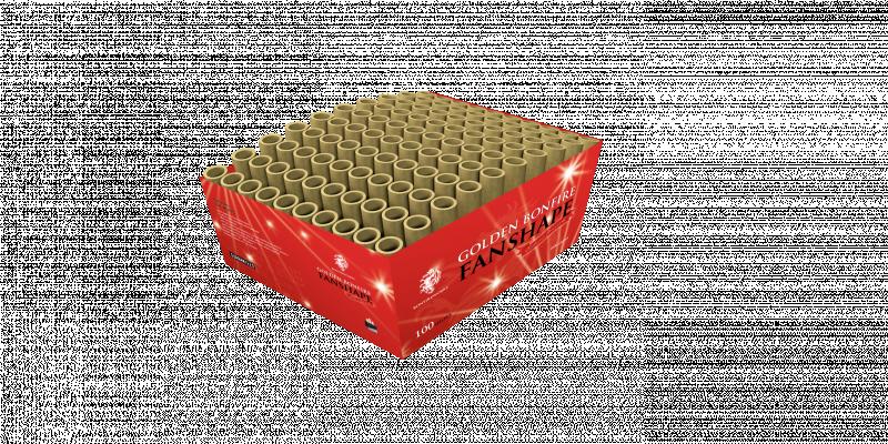 Golden Bonfire Fanshape Box