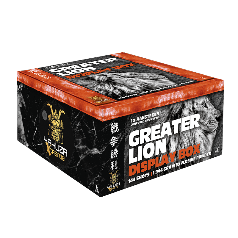 Greater lion display box