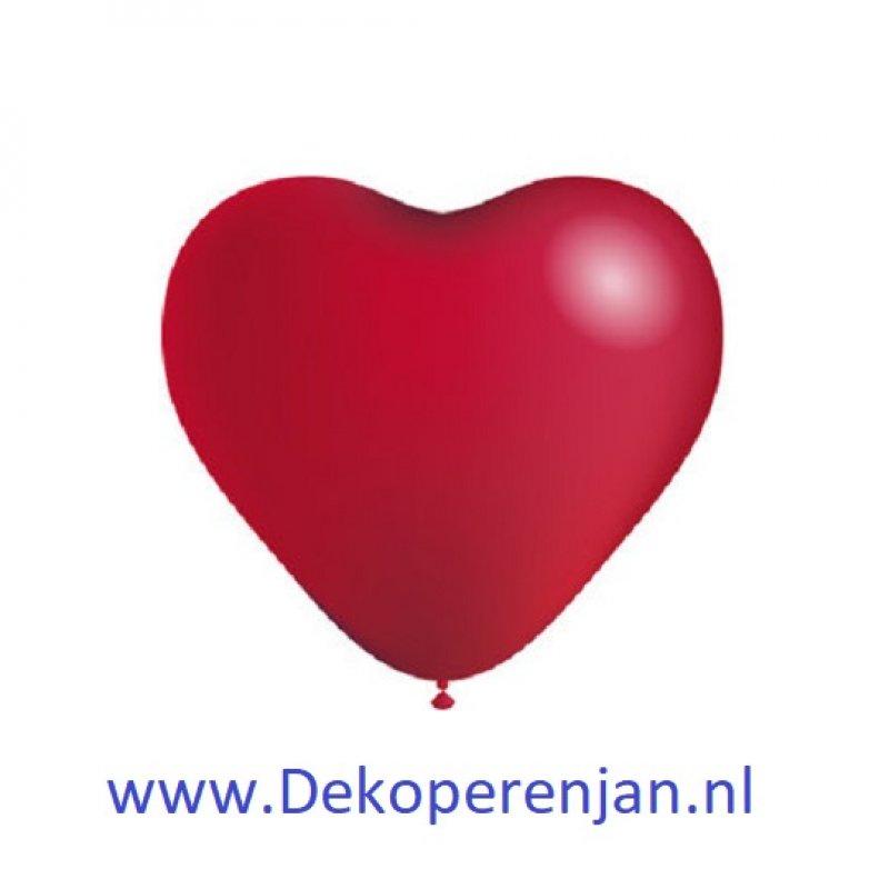 Hart ballonnen rood