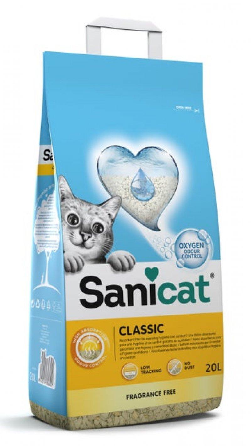 Sanicat kattenbakvulling Classic 20 L - 2 stuks