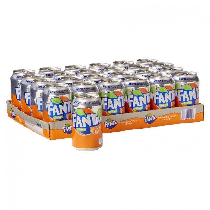 Tray Fanta Orange Zero