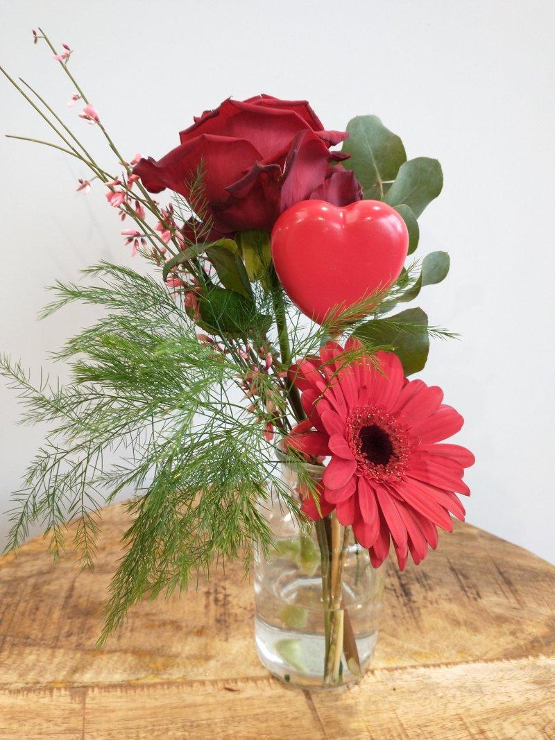 Valentijnsvaasje