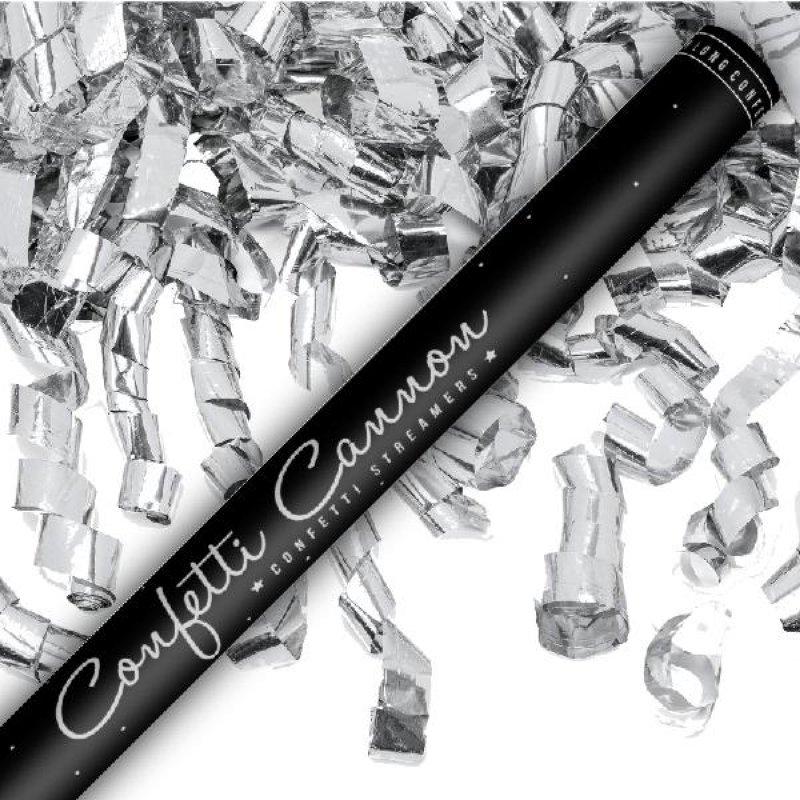 Confetti shooter 80cm silver streamer