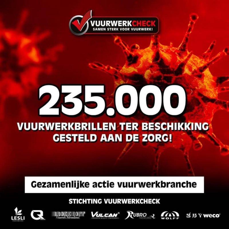 Vuurwerkbranche doneert ruim 235.000 brillen