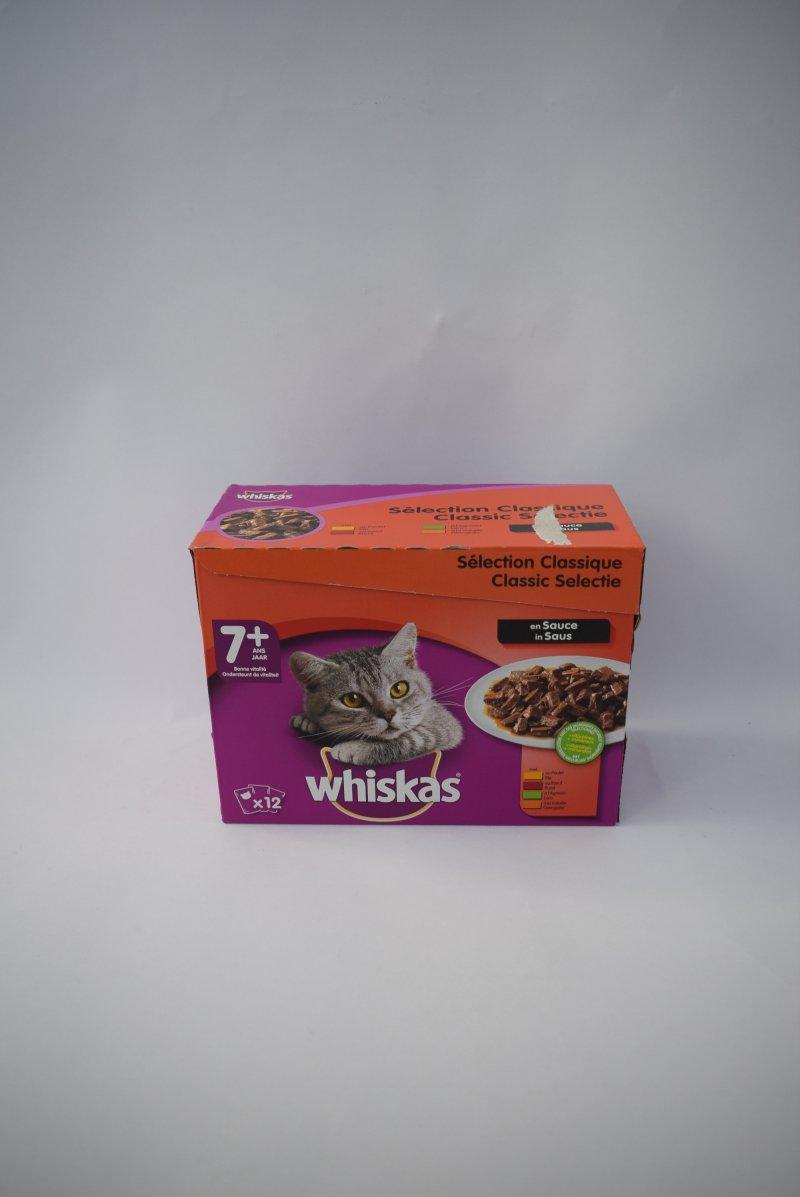 Whiskas senior vlees in saus